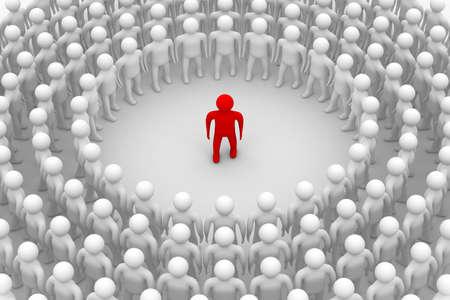 community service: Conceptual image of teamwork. 3D image.