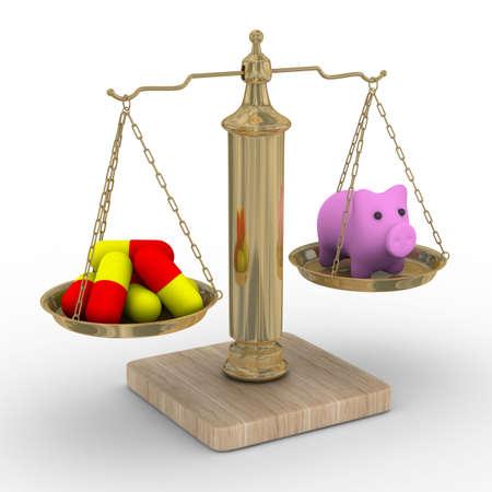 equilibrium: Pork flu. Isolated 3D image