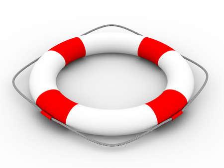 lifebuoy: Lifebuoy on a white background. Isolated 3D image