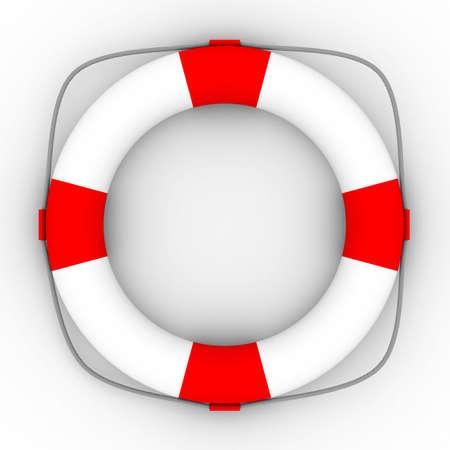Lifebuoy on a white background. Isolated 3D image