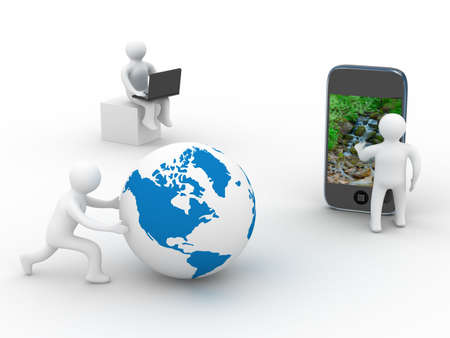 concept of global communication. Isolated 3D image photo