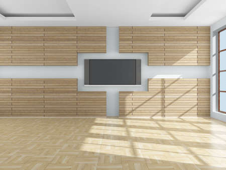 Interior of a living room. 3D image. Stock Photo - 5299226