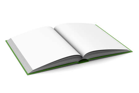 Opening book on white background. 3D image Stock Photo - 5344328