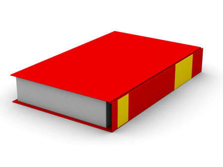 Closed book on white background. Isolated 3D image Stock Photo - 5344332