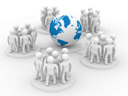 Conceptual image of teamwork. Isolated 3D image. Stock Photo - 5455222