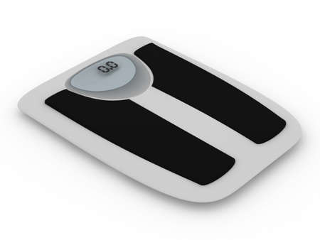 Floor scales on  white background. Isolated 3D image Stock Photo - 5473817