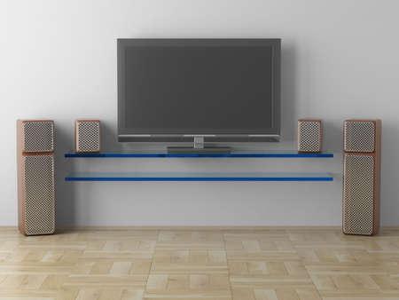 hall monitors: Interior of a living room. 3D image.