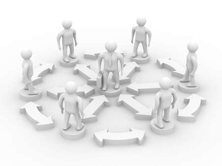 Conceptual image of teamwork. Isolated 3D image. photo