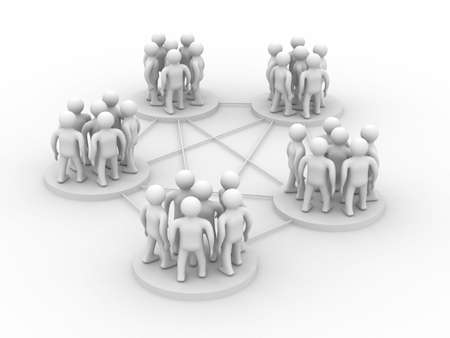 transmit: Conceptual image of teamwork. Isolated 3D image Stock Photo