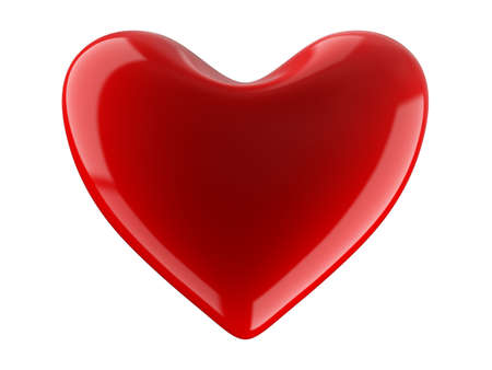 cupids: Isolated heart on white background. 3D image. Stock Photo