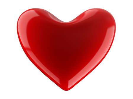 Isolated heart on white background. 3D image. photo