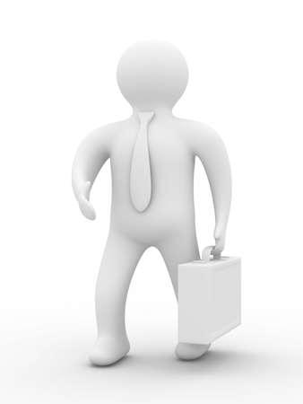 handclasp: Handshake. businessmen on white background. Isolated 3D image