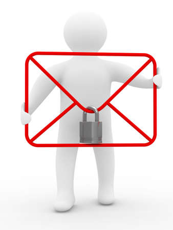 E-mail concept on white background. Isolated 3D image Stock Photo - 5623435