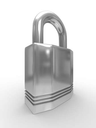 steel closed lock on white background. Isolated 3D image Stock Photo - 5634654