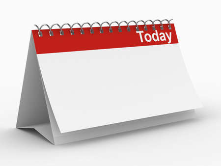 today: Calendar for today on white background. Isolated 3D image