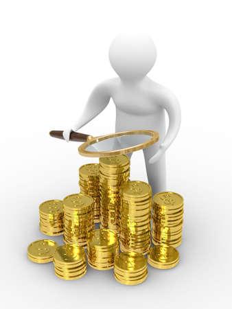 Increase finance on white background. Isolated 3D image Stock Photo - 5796943