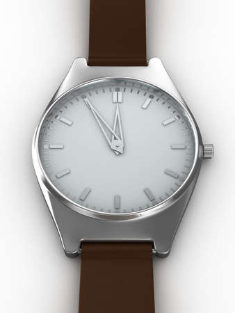 Watch on white background. Isolated 3D image  Stock Photo - 5832833
