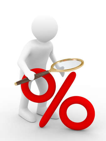 Discounts. Increase percent. Isolated 3D image Stock Photo - 6071252