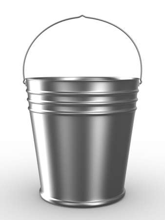 implement: Bucket on white background. Isolated 3D image