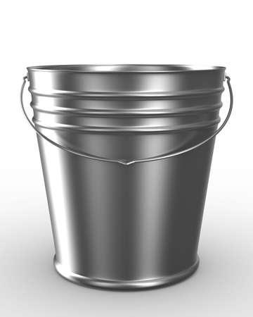 vat: Bucket on white background. Isolated 3D image