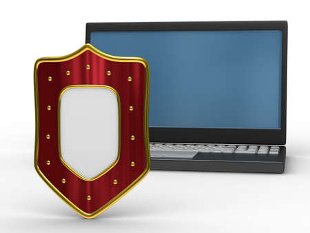 Protected global network Internet. Isolated 3D image Stock Photo - 6188374