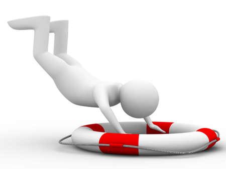 falling man on white background. Isolated 3D image Stock Photo - 6188386