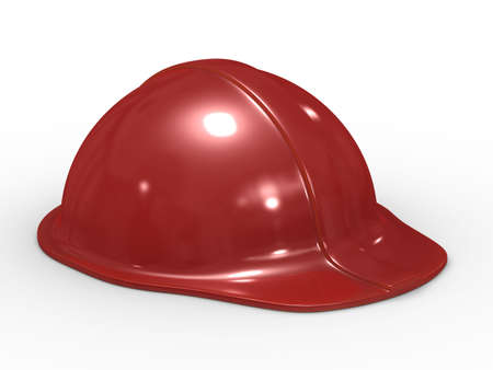 buckler: Red helmet on white background. Isolated 3D image