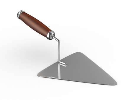 darby: new construction trowel isolated on white. 3D image