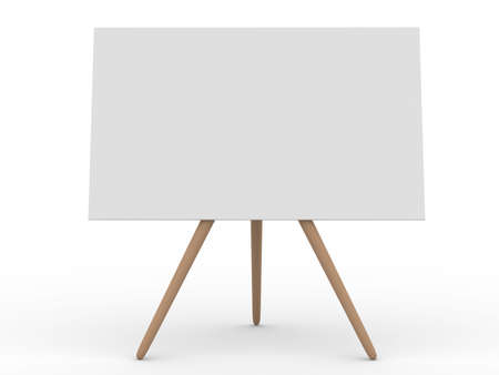 Empty board on white. Isolated 3d image Stock Photo - 6382470