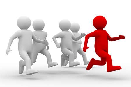 leiderschap: concept van het leiderschap op witte achtergrond. Geïsoleerde 3D-beeld  Stockfoto