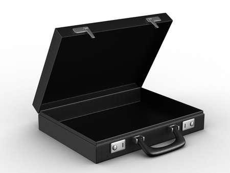 Case on white background. isolated  3D image photo