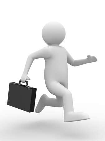 businessman on white background. Isolated 3D image Stock Photo - 6460627