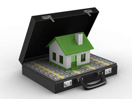 Money for real estate. Isolated 3D image Stock Photo - 6469242