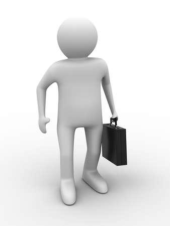 businessman on white background. Isolated 3D image Stock Photo - 6672521