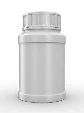 Bottle for tablets on white background. Isolated 3D image photo