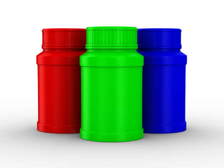Bottle for tablets. RGB. Isolated 3D image Stock Photo - 6693899