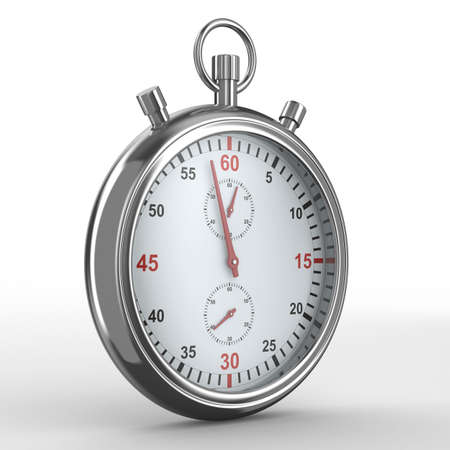 beat the competition: Stopwatch on white background. Isolated 3D image
