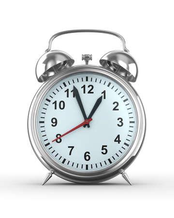 Alarm clock on white background. Isolated 3D image Stock Photo - 6842273