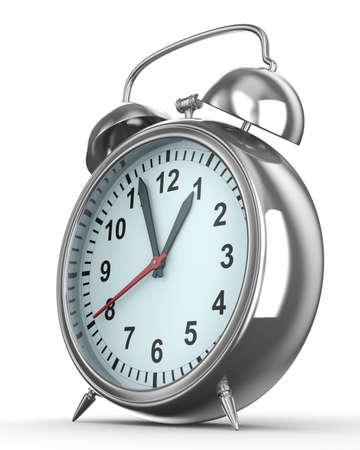 Alarm clock on white background. Isolated 3D image Stock Photo - 6842274