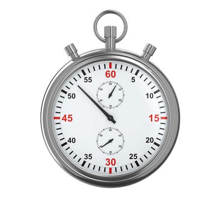 cronometro: Cron�metro sobre fondo blanco. Aislado de la imagen 3D