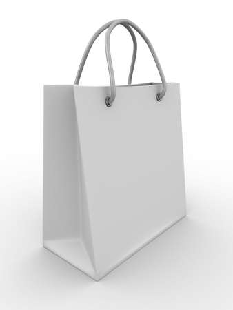 Shoping bag on white. Isolated 3D image photo