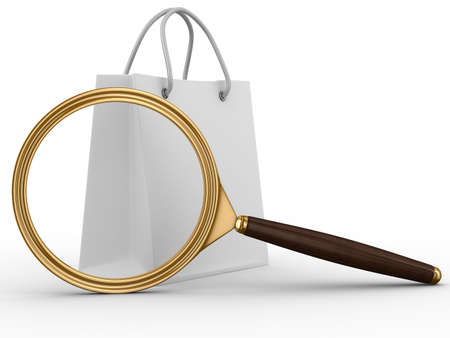 Search of goods. Isolated 3D image on white Stock Photo - 7123824