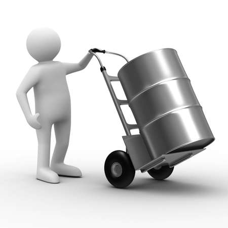 hand truck on white background. Isolated 3D image photo