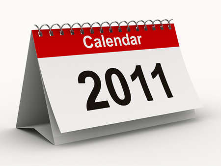2011 year calendar on white backgroung. Isolated 3D image Stock Photo - 7988699