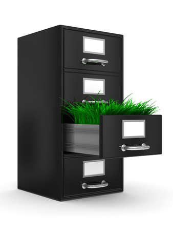 Filing cabinet on white. Isolated 3D image Stock Photo - 8110896