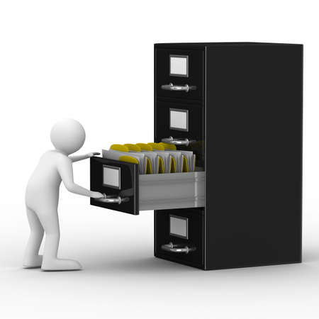 Filing cabinet on white. Isolated 3D image Stock Photo - 8208541