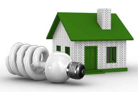 effizient: Leistungseffizienz des Hauses. Isolated 3D image