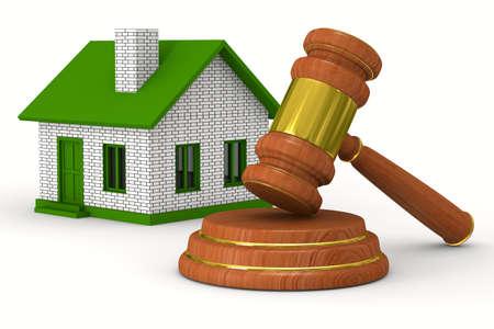 sold small: Piccola casa su sfondo bianco. Immagine 3D isolato