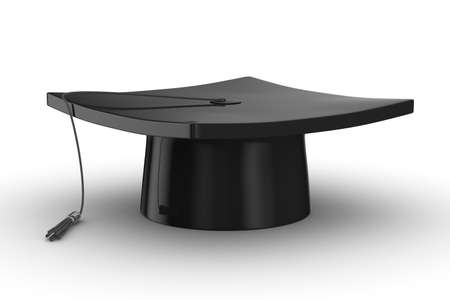 high end: Graduation. Isolated 3D image on white background
