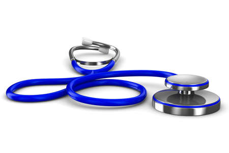 Stethoscope on a white background. Isolated 3D image photo